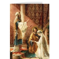 The Wedding of Joseph and Mary Blank Greeting Card