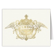 Ad Maiorem Dei Gloriam Angles Blank Note Card Pack of 6