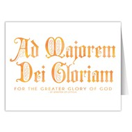 AMDG For the Greater Glory of God Blank Note Card