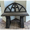 Cathedral Bench, 34 H x 37.5 W x 14.5 D, Outdoor, Concrete, Various Finishes