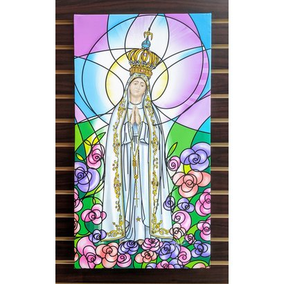 Our Lady of Lourdes, 16x30
