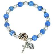 Light Blue Bead Bracelet
