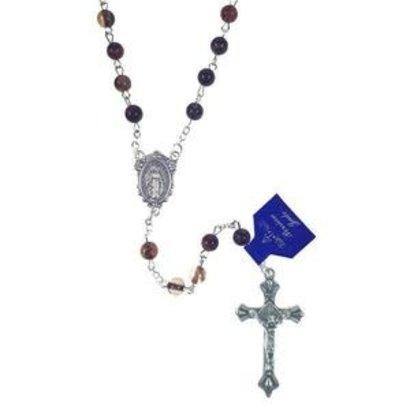 Multi Colored Jade Rosary, Brown Tones