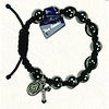 Black Bead Bracelet with Marian Medal