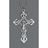 Auto Cross 1 1/2 inch Crucifix w/ Ball Chain- Made in Italy