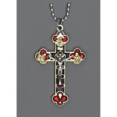 "Auto Jewelry 1 1/2"" Inch Crucifix w/ Ball Chain- Made in Italy"