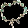 genuine murano turguoise rosary bracelet