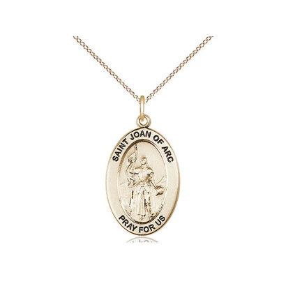 14kt Gold - GF Joan of Arc  OVL Medal