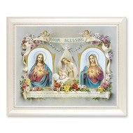 baby room blessing frame white