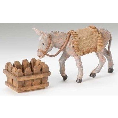 "5"" Scale Fontanini 3 Pc St. Mary's Donkey"