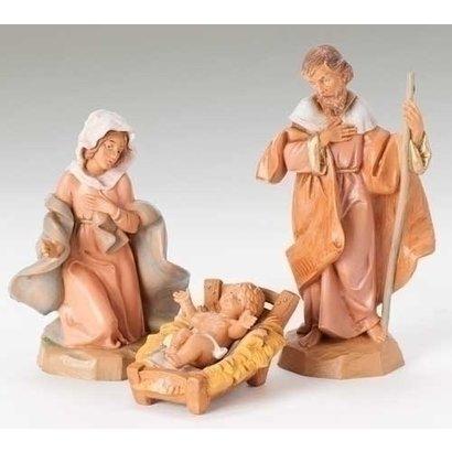 "5"" Scale Fontanini 3 Pc Set of Holy Family"