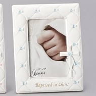 "7""H Baptism Frame for Boy 3.5X5"