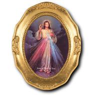 Divine Mercy Gold Leaf Frame