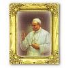 St. John Paul II 3x2 Gold Frame