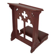 Padded Kneeler Walnut Stain with shelf