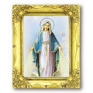 Our Lady Miraculous Medal 3x2 Gold Frame