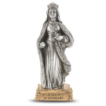 "St. Elizabeth of Hungary - 4"" Pewter Statue"