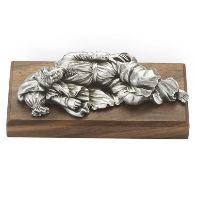 "St. Joseph Sleeping - 4""  Pewter Statue"