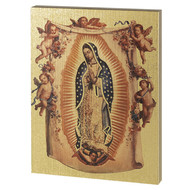 Our Lady of Guadalupe-Lg Gold Embossed Plaque