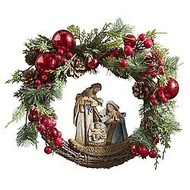 "Nativity Wreath 15"" Diameter"