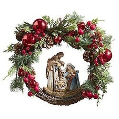 "Nativity Wreath 15"" Diameter"