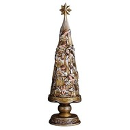 Metallic Nativity Christmas Tree