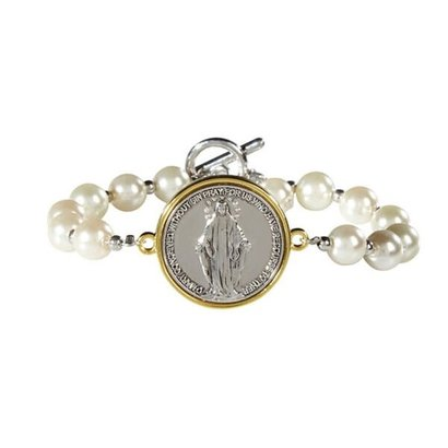 Our Lady of Grace Two Toned Bracelet
