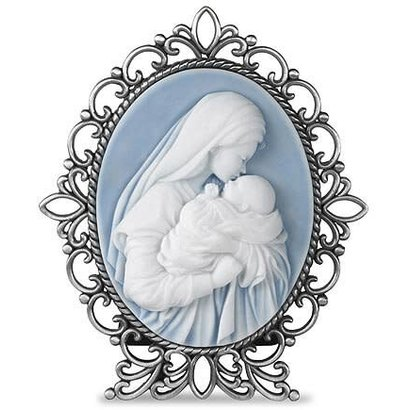 Mother's Kiss Cameo Desk Stand