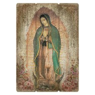 Large Format Our Lady Of Guadalupe Pallet Sign