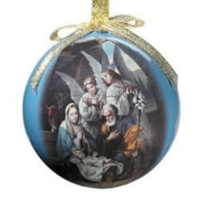 Blessed Art Thou Decoupage Ornament single