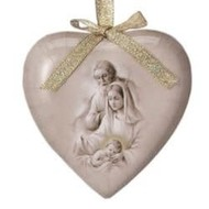 Gift Box of 6 Heart Shaped Decoupage Ornament