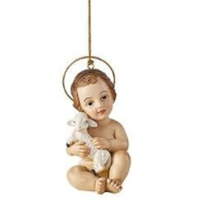 Baby Jesus with Lamb Ornament