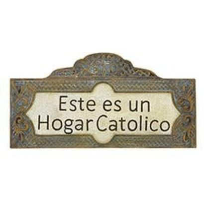 This is a Catholic Home Wall Plaque (Spanish)