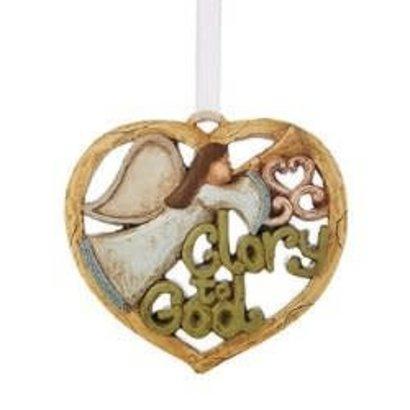 Glory God Angel Heart Ornament