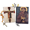 Saint Francis and Saint Damiano Cross Crucifix Rosary Icon Pouch 5 3/8 Inch