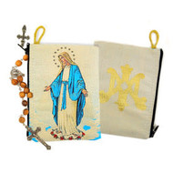 """Our Lady Of Grace Rosary Icon Pouch Case 5 3/8""""x4"""""""