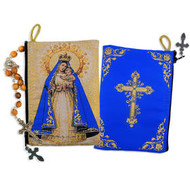"Our Lady of Charity - Our Lady of El Cobre Rosary Icon Pouch 5 3/8""x4"""
