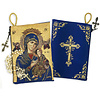 "Our lady of Guadalupe Cross on The Back Side Rosary Icon Pouch 5 3/8""x4"""