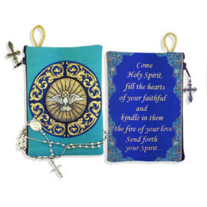 """Holy Spirit"" Bernini Inspired Tapestry Pouch Keepsake Pouch - Turquoise 5.5' x 4'"