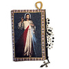 """Divine Mercy Two Sided Rosary Pouch Keepsake Holder 5 3/8""""x4"""""""