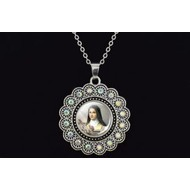 """St. Therese Rose Pendant on 20"""" Chain"""