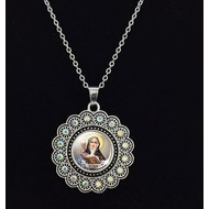"""St. Clare Pendant on 20"""" Chain"""