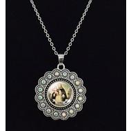 "St. Rose Pendant on 20"" Chain"