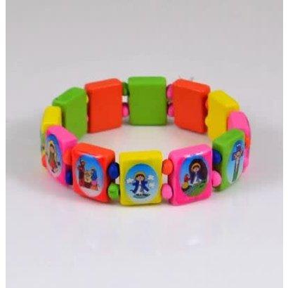Childrens Multicolor Saints Stretch Bracelet