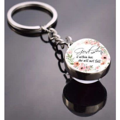 Psalms 46:5  Keychain