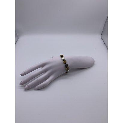 Two-toned St. Benedict Slip-knot Bracelet