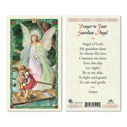 Prayer to your Guardian Angel Holy Card, Printed in Italy