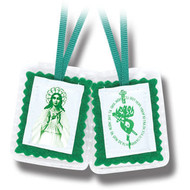 Green Laminated Scapular
