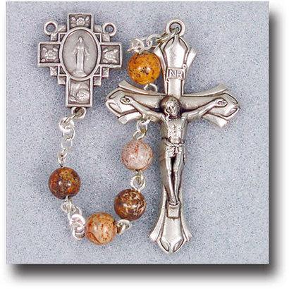 6mm Jasper Bead Rosary