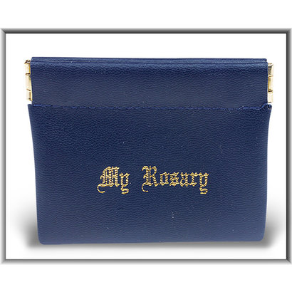 blue snap Rosary Case